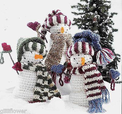 Винтажные THREE JOLLY CHRISTMAS SNOWMEN VINTAGE