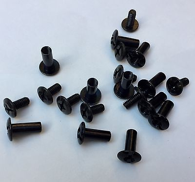 "Chicago Screws For Holster Sheath Making 1/2 "" Black Oxide Slotted Post 10 Pack"