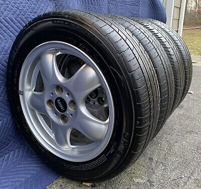 "4 OEM Mini Cooper Clubman Wheels Rims & Tires  71183 6768498 15"" Nice Condition"
