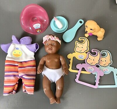Baby Born Miniworld Zapf Creation Bundle ~ Doll, Coat hangers & Potty 🍼