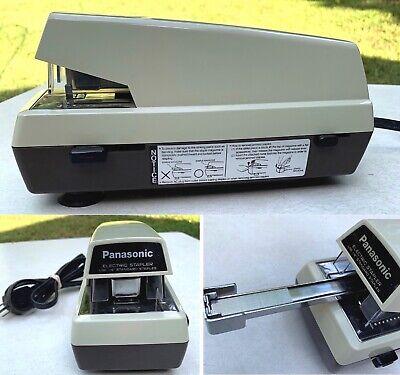 Vintage Mid Century Electric Stapler Office Panasonic Suction Cups Excellent