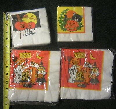 Old Guy Halloween Costumes (Vintage new old stock Halloween Napkins,4 packs,black)