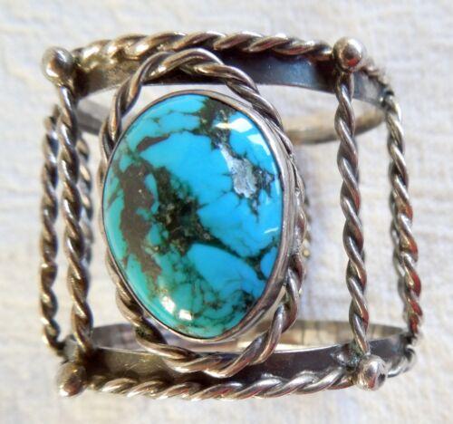 Navajo NAPKIN RING *Turquoise & Sterling Silver* 19.6 Grams * Signed K *