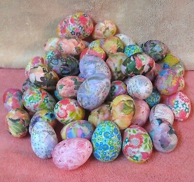Lot (50) DECOUPAGE Assorted Patterns Easter Eggs