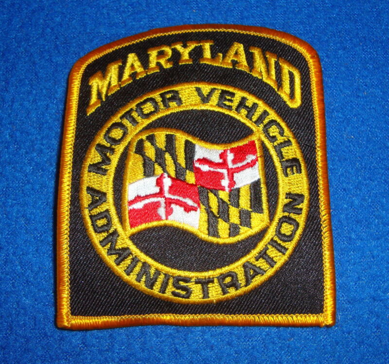 Maryland Motor Vehicle Administration Patch New Old Stock