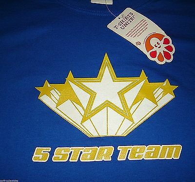 New  Blue Customink Fruit Of The Loom Large T Shirt Sports High School College