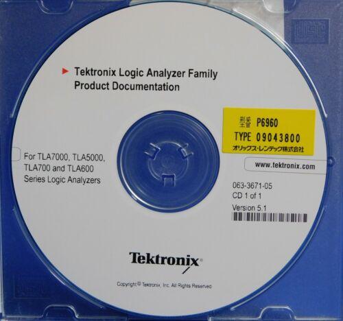 Tek 063-3671-05 Logic Analyzer Product Documentation TLA7000 TLA5000 TLA700