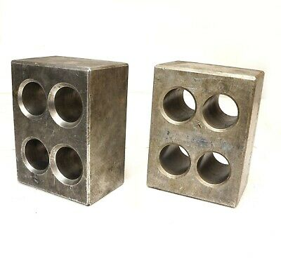Pair Cast Aluminum Precision Machinist Set Up Parallel Blocks 8 X 6 X 4-18