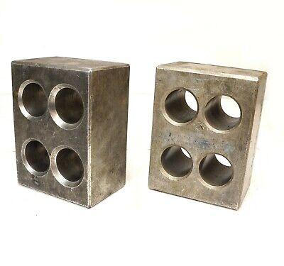 Pair Cast Aluminum Precision Machinist Set Up Parallel Blocks 8 X 6 X 4-18