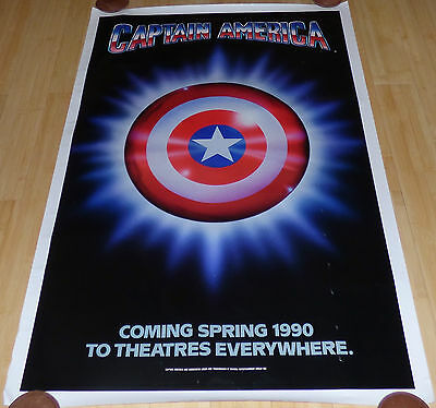 CAPTAIN AMERICA 1990 ORIGINAL ROLLED ADVANCE 1 SHEET MOVIE POSTER MARVEL - 1990 Captain America Movie