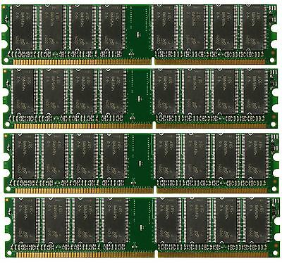 4GB 4x1GB PC3200 400Mhz DDR 184pin Desktop RAM Memory Non-ECC HIGH Density