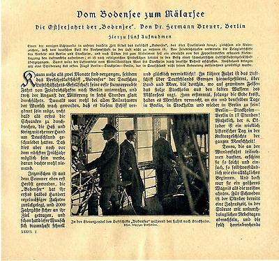 """Die Ostseefahrt des Luftschiffes """"Bodensee"""" Berlin-Stockholm Foto-Report v.1920"""
