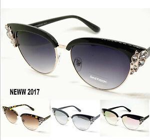 Occhiali da sole lente a gatto strass donna neww 2017 custodia ebay - Occhiali da sole specchiati 2017 ...