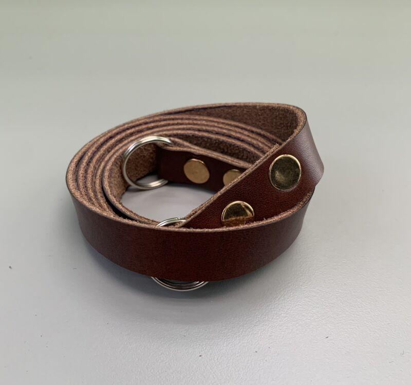 Handmade Genuine Leather Shoulder Neck Camera Strap (Light Brown) - US Seller