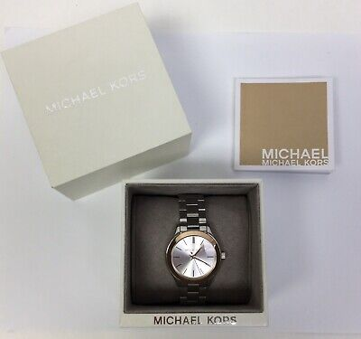 Michael Kors Women's Watch Mini Slim Runway Silver Tone Dial Bracelet MK3514