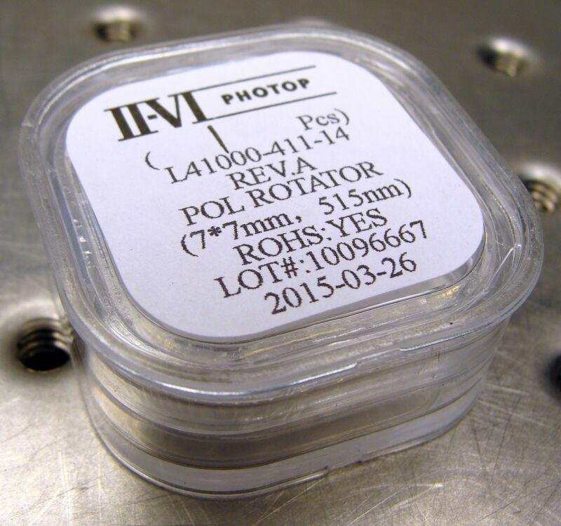 POLARIZATION ROTATOR OPTIC 515nm GREEN laser waveplate DPSS Melles Griot