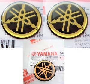 YAMAHA R1 R6 YZF GENUINE TANK & REAR FAIRING STICKERS GEL DECAL GOLD 25MM + 45MM