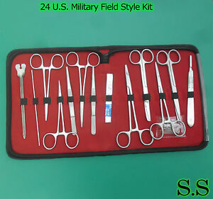 12-SETS-24-US-Military-Field-Style-Medic-Instrument-Kit-Medical-Surgical-Nurse