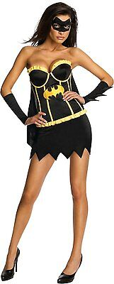 Batgirl Batman Dark Knight Corset Superhero Dress Halloween Sexy Adult Costume ()