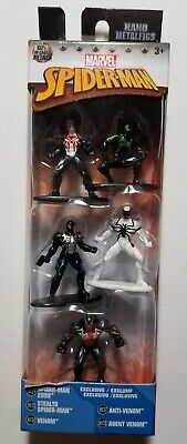 MARVEL Spiderman Nano Metalfigs Venom Spiderman 2099 Stealth Spiderman