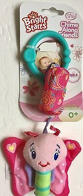 Bright Starts Chime Along Friends Butterfly Hanging Rattle Toy Bright Colors 0+M