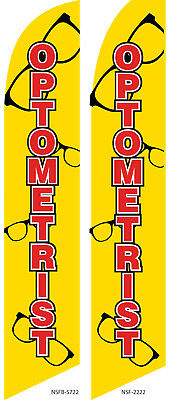 Optometrist Flag Flutter Feather Flag Swooper Advertising Sign Bow Banner
