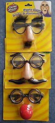 🕶BRAND NEW🕶 3 Pairs of Joking around DISGUISE GLASSES Costume for - 3 Pair Halloween Costumes