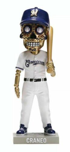 2019 Milwaukee Brewers Sugar Skull Cerveceros SGA Bobblehead Craneo 7/13 new