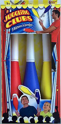 3 JUGGLING CLUBS Kids Beginner Set Juggle Prop Arts Pins Spinning Tricks Kit ](Juggling Sets)