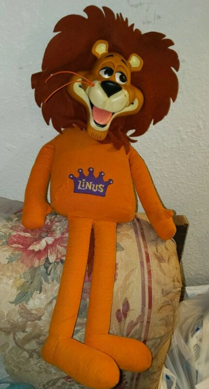 "Vintage Linus  the Lion Hearted full body  Plush 22"" Mattel 1965 Very RARE"