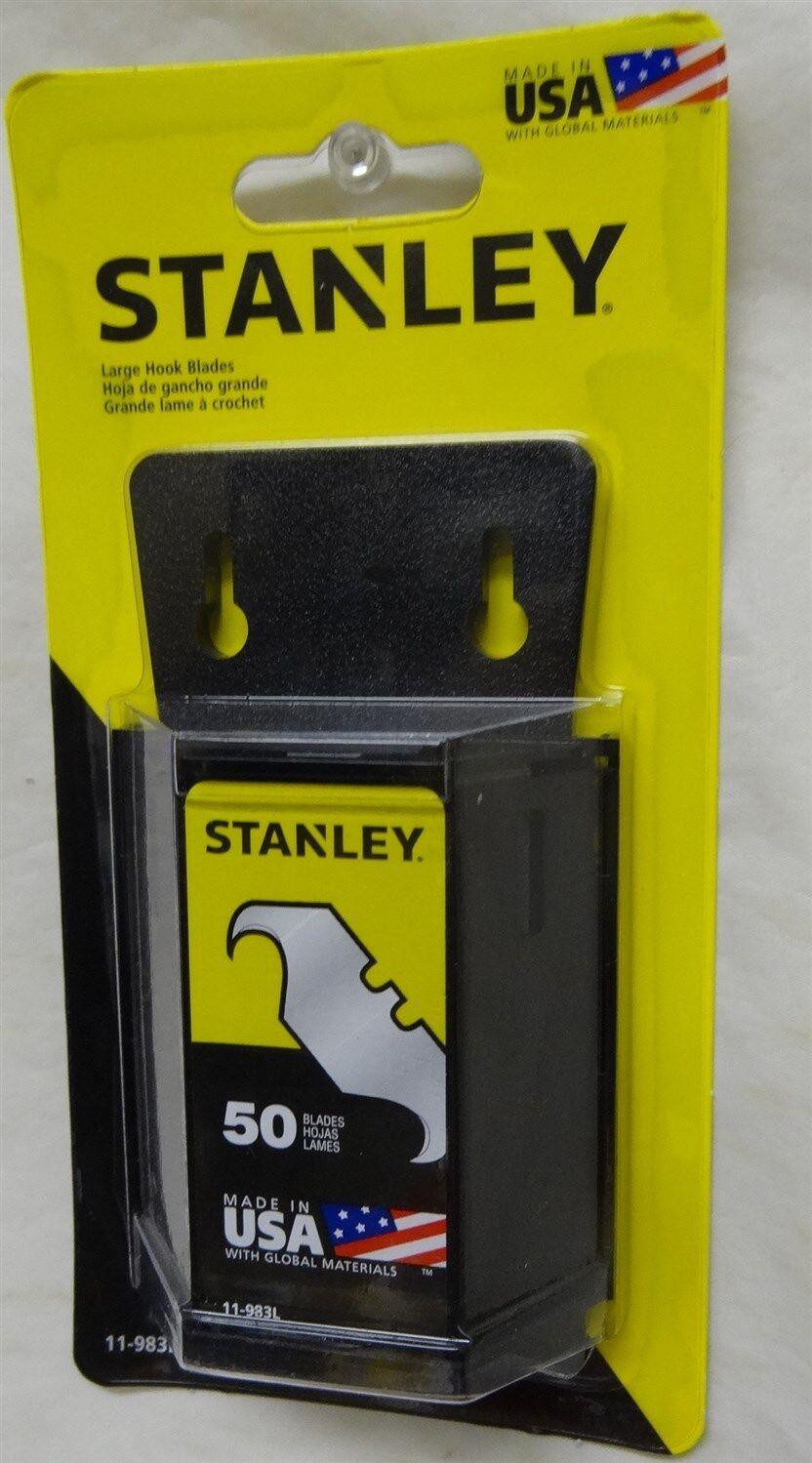 Stanley Large Hook Utility Blades 50 Pack 11 983l Ebay