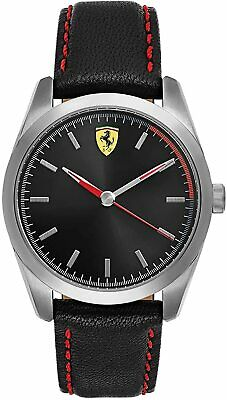 Ferrari Men's D50 Stainless Steel Leather 42mm Watch