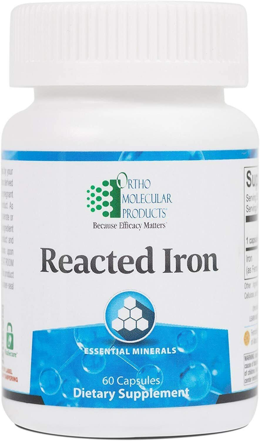 Ortho Molecular Reacted Iron 60 Capsules