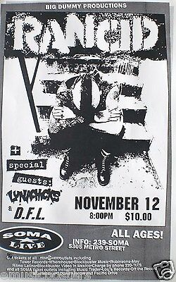 RANCID 1995 SAN DIEGO CONCERT TOUR POSTER - PUNK SITTING WITH HIS HEAD DOWN