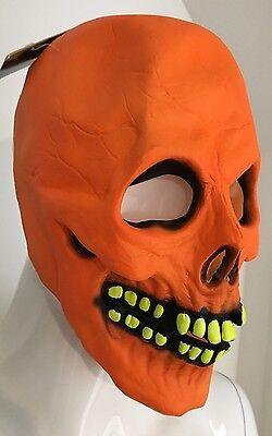 Adult Radioactive Skull Mask - Halloween  - Radioactive Halloween Costume