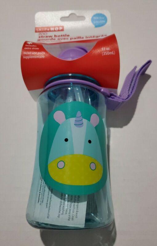 Skip Hop Straw Bottle Unicorn baby free 12oz