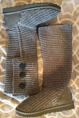 UGG Australia Women's Size 7 Classic Cardy Boots 5819 Gray Triplet Bailey Button for sale  Tacoma