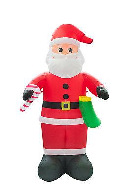 8FT Christmas Inflatable Santa Claus Lawn Event Yard Mall Decor Xmas Airblown