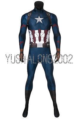 Avengers 4 Endgame Steven Rogers Captain America Cosplay Kostüm Costume bodysuit