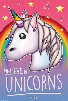 Emoji Believe in Unicorns Maxi Poster