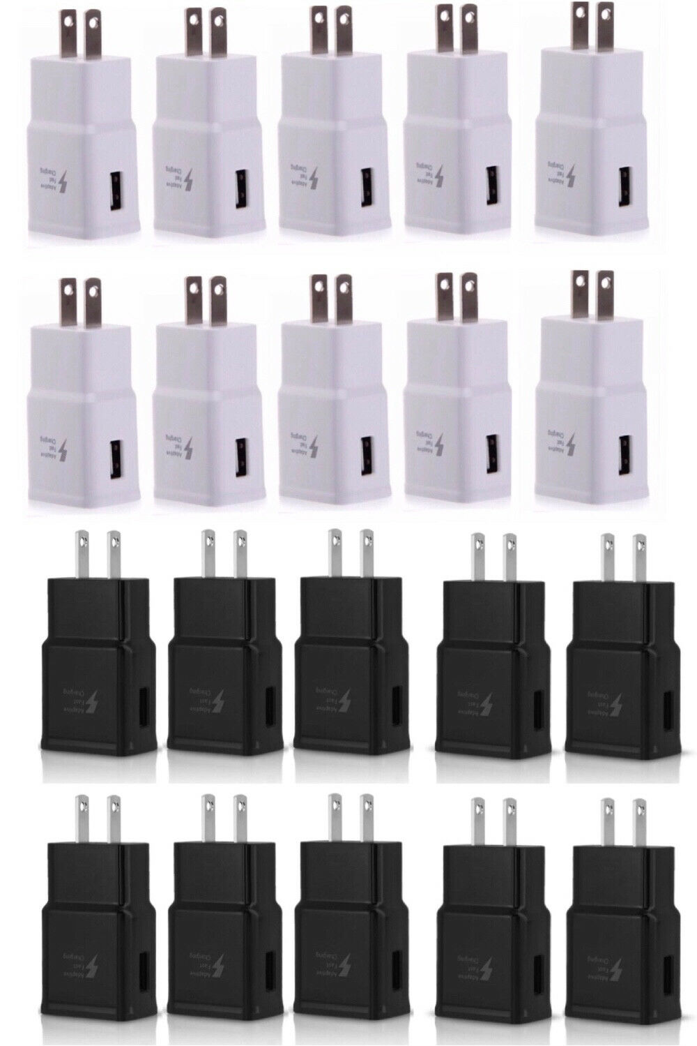 LOT ADAPTIVE FAST CHARGING WALL CHARGER ADAPTER FOR SAMSUNG