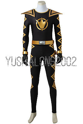 Mighty Morphin Power Rangers ZYURANGER schwarz black Cosplay Kostüm - Morphin Power Ranger Kostüm
