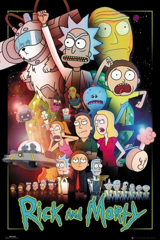Rick and Morty Characters Poster, Size 24x36