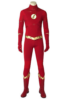 The Flash Season 5 Cosplay Barry Allen Costume Custom Made Adult Halloween Suit