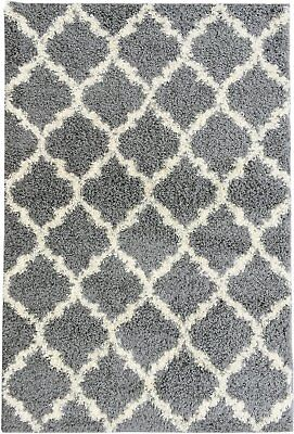 "Ottomanson shag Trellis Area Collection 5'3""X7'0"" Grey"