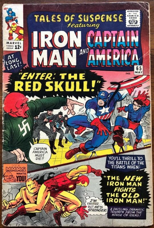 Tales Of Suspense 65 First Silver Age Red Skull Solid VG!