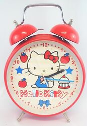 Hello Kitty Twin Bell Red Jumbo Oversize Vintage Alarm Clock Stands 18