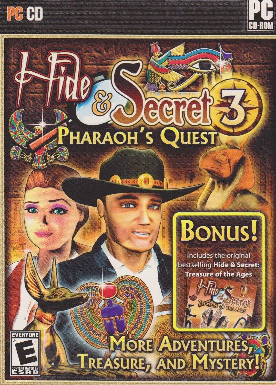Computer Games - Hide & Secret 3 Pharaoh's Quest PC Games Window 10 8 7 XP Computer hidden object