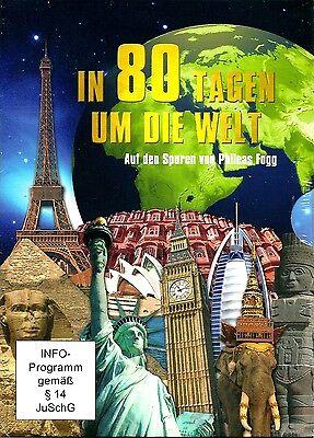 IN 80 TAGEN UM DIE WELT- auf den Spuren von J. Vernes' Phileas Fogg, 4 DVD,