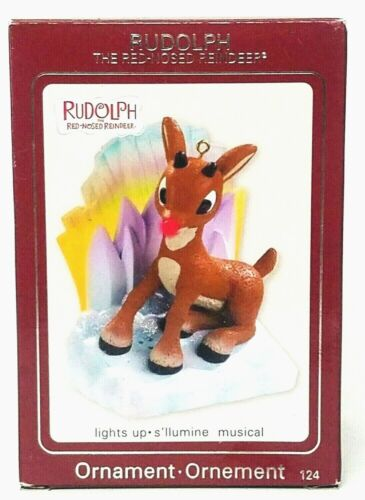Rudolph The Red-Nosed Reindeer Carlton Cards Lights & Musical Heirloom Ornament